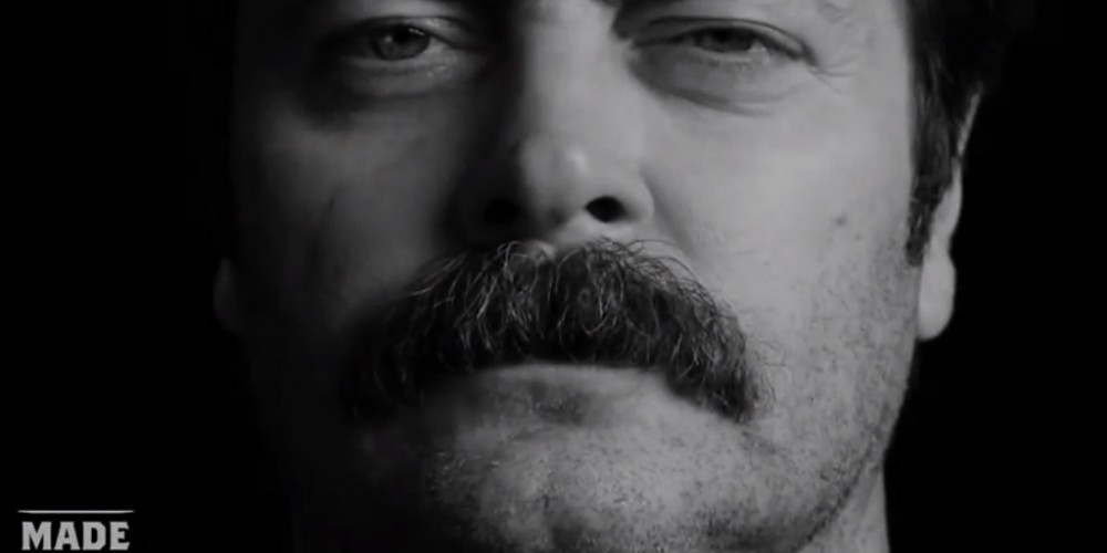 Nick Offerman's Great Moments in Moustache History