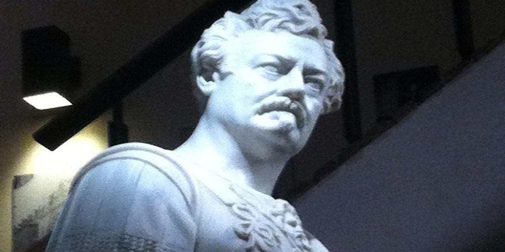 I found a majestic marble sculpture of Ron Swanson Swanson