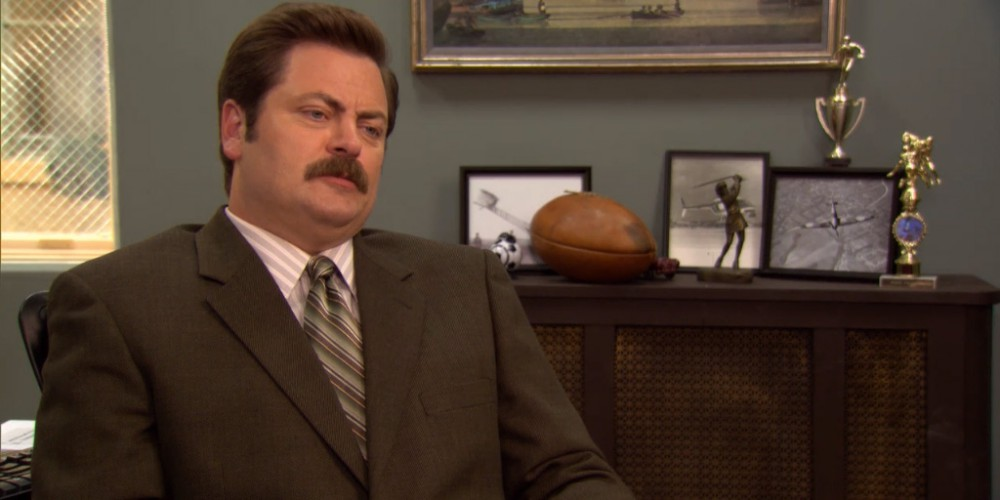 Ron Swanson on pain and government health care.