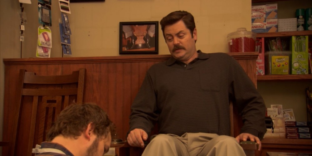 Ron Swanson has a bunion.