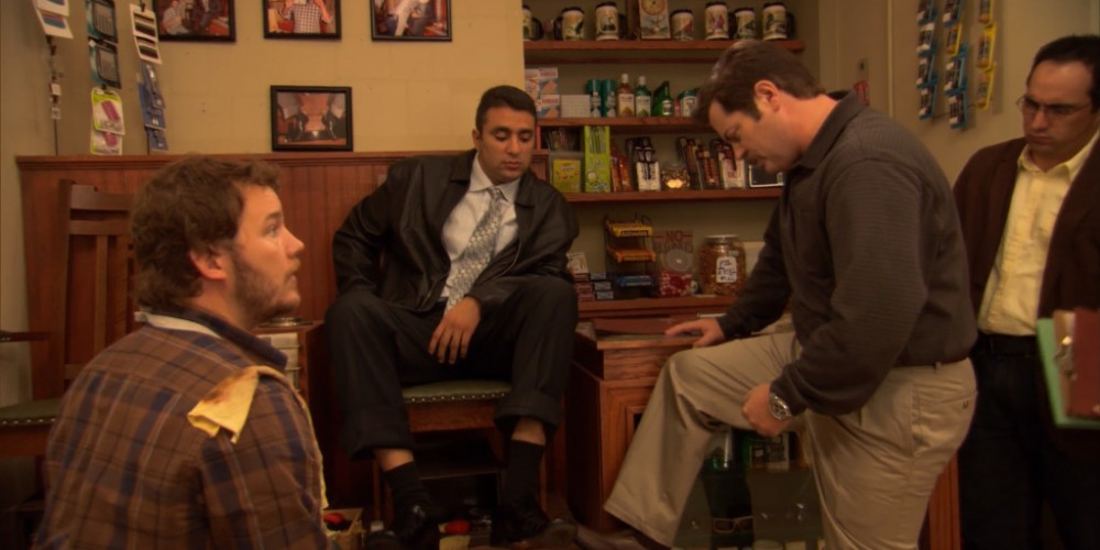 Ron Swanson shoe shine