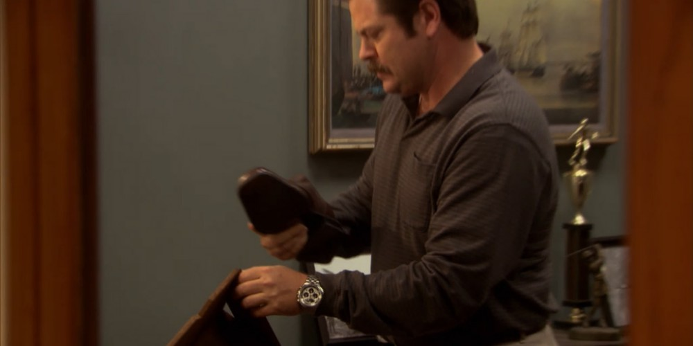 Ron Swanson shoe shine 2