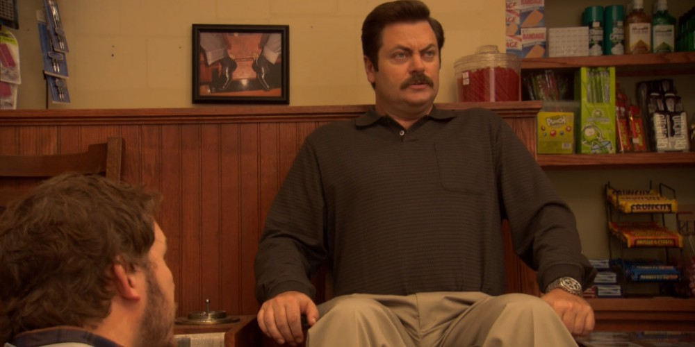 Ron Swanson shoe shine 3