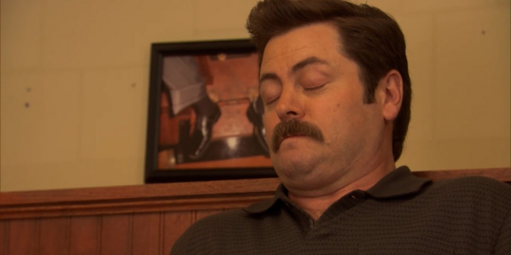 Ron Swanson shoe shine 4
