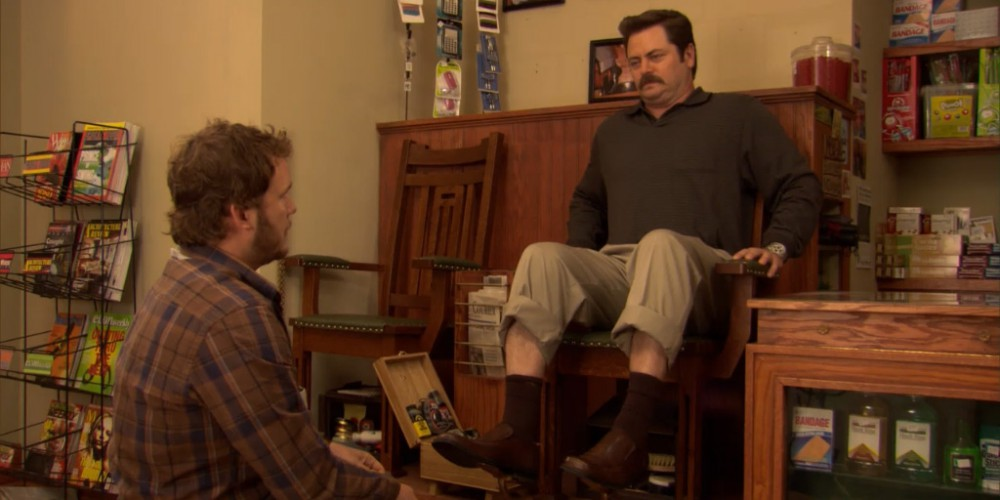 Ron Swanson shoe shine 5