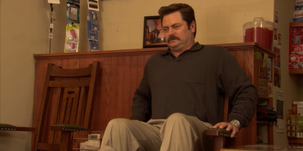Ron Swanson shoe shine 6