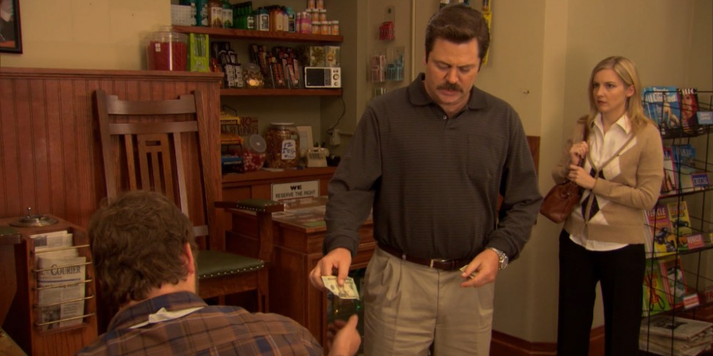 Ron Swanson shoe shine 7