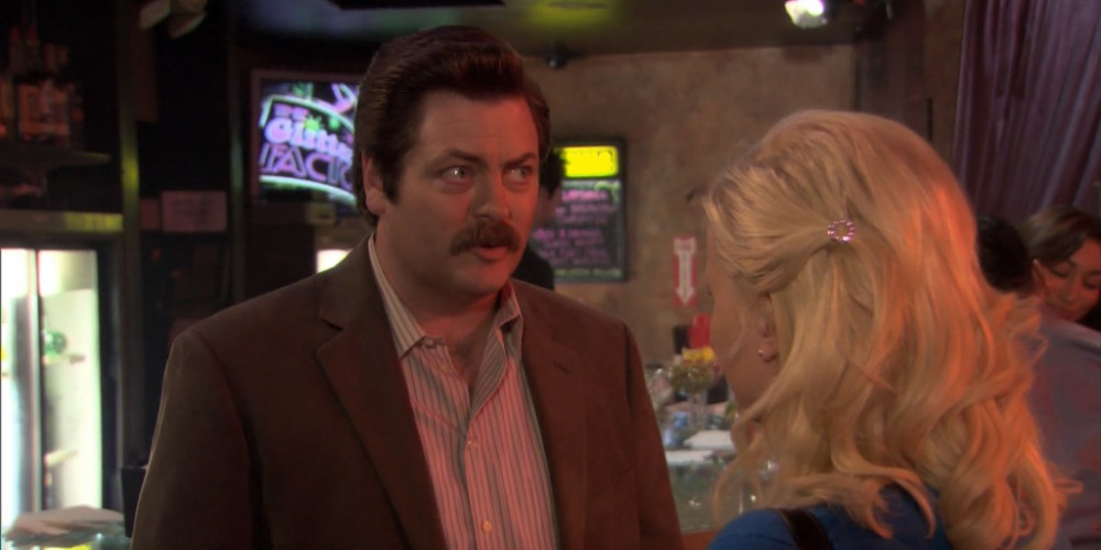 Ron Swanson does not care for strip clubs.