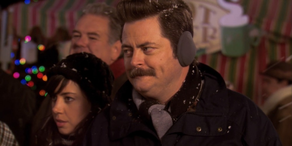 One reason Ron Swanson loves Christmas.