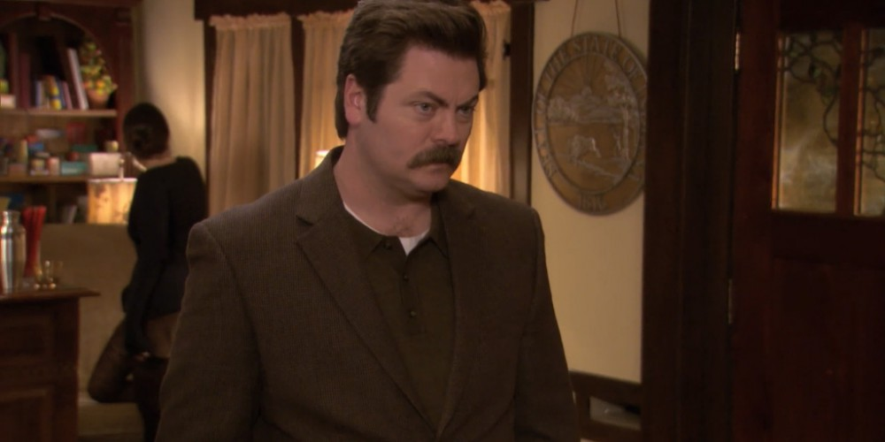 Ron Swanson is a private person.