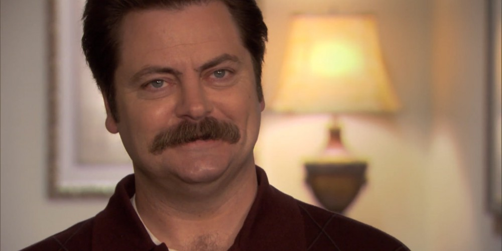Ron Swanson enjoys being a hostile witness.