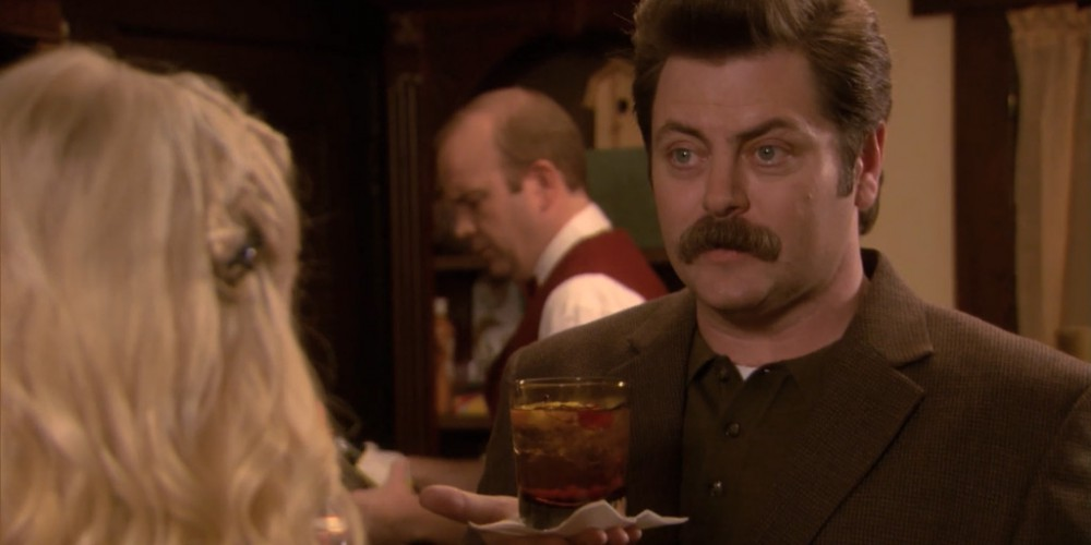 The best Old Fashioned Ron Swanson has ever had.