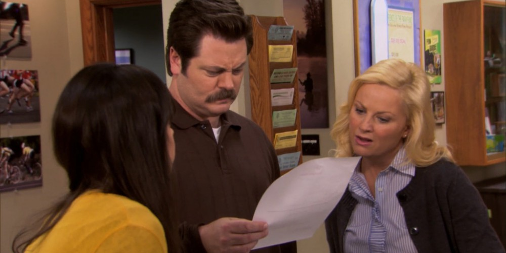 Leslie needs to stop doing Ron Swanson Swanson's work.