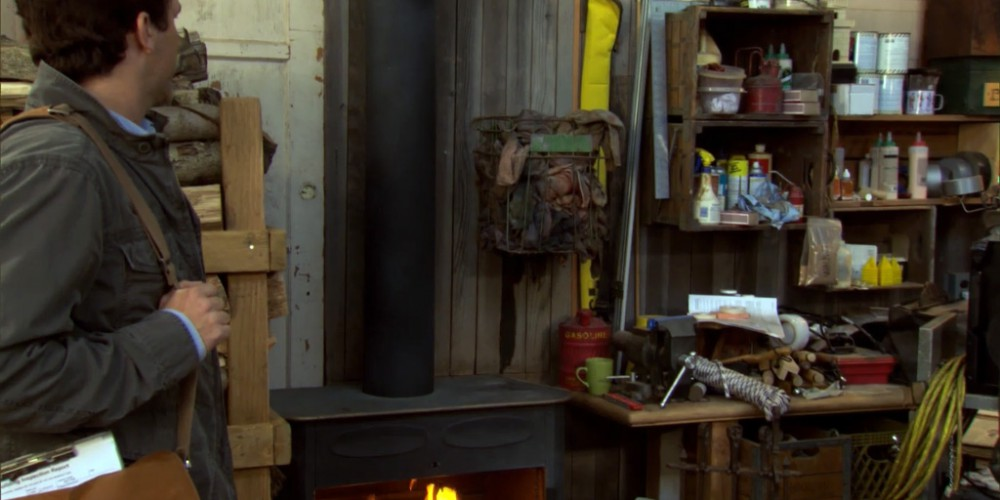 Inside Ron Swanson Swanson's wood shop image 9