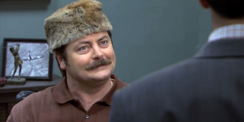 Ron Swanson coonskin hat 3