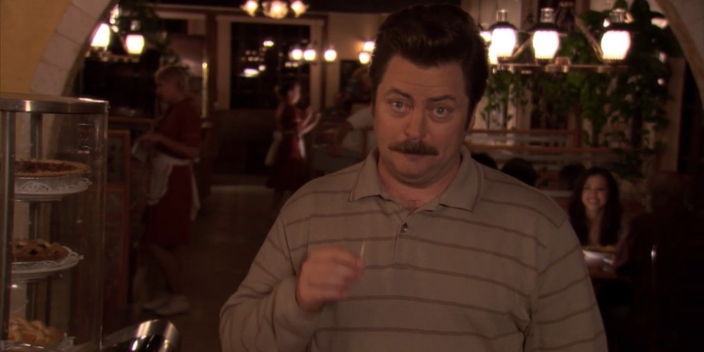 What would Ron Swanson Swanson's first act as City Manager be?
