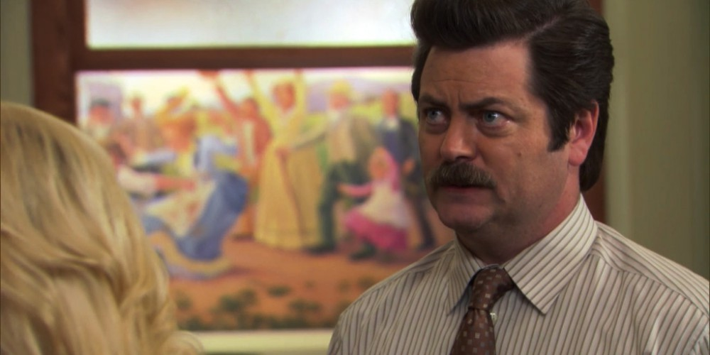 Ron Swanson and a puppy picture 1