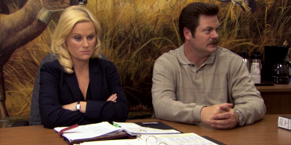 Ron Swanson wants to go camping w/ Ben Wyatt.