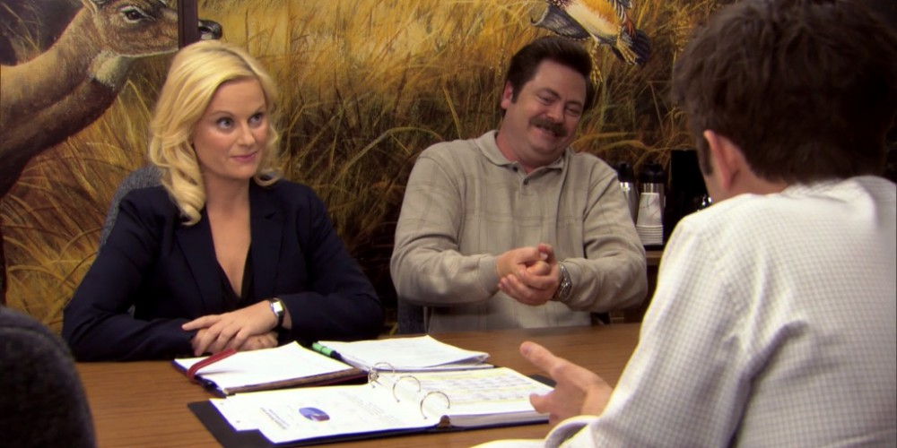 Ron Swanson Swanson's reactions to Ben cutting the budget picture 10