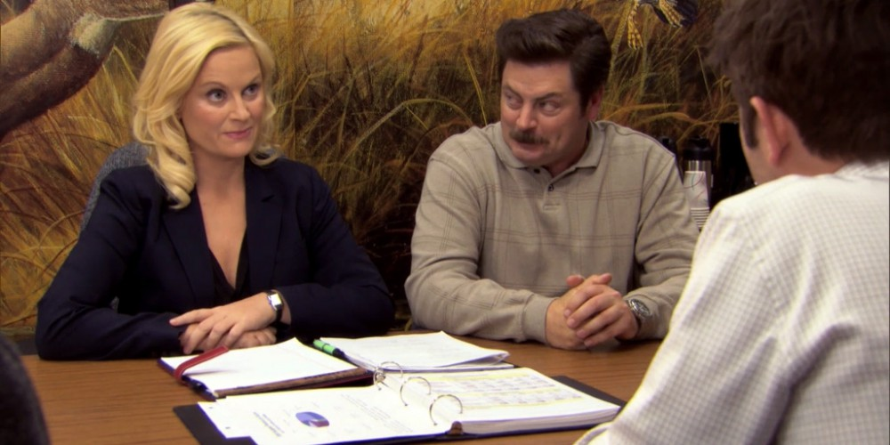 Ron Swanson Swanson's reactions to Ben cutting the budget picture 11