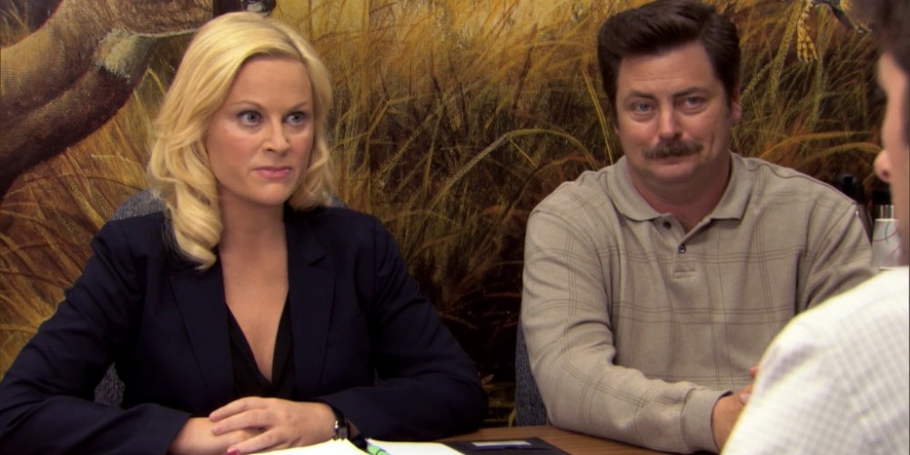 Ron Swanson Swanson's reactions to Ben cutting the budget picture 13