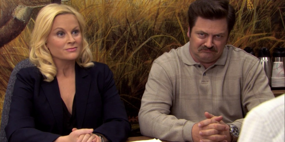 Ron Swanson Swanson's reactions to Ben cutting the budget picture 5