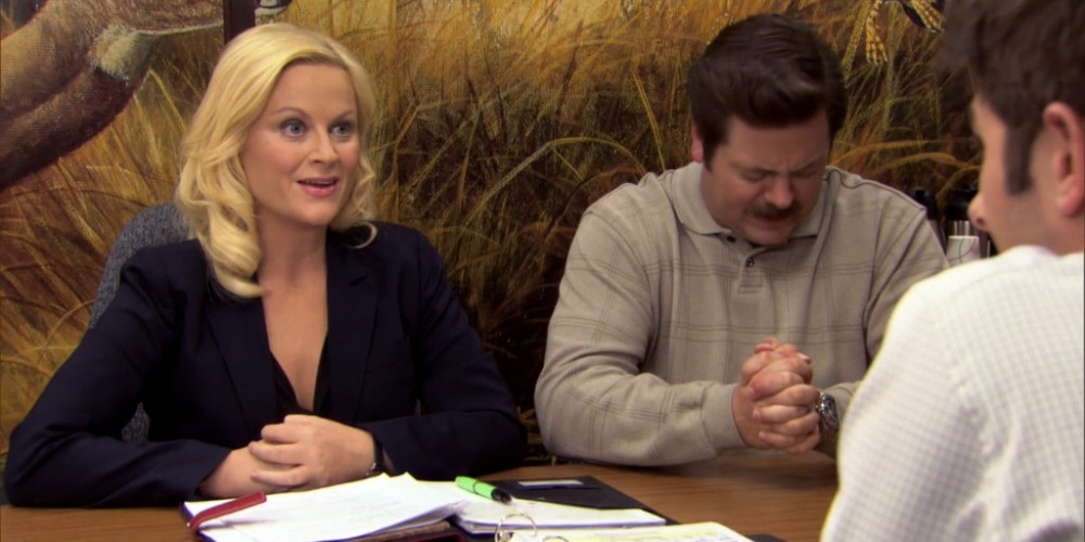 Ron Swanson Swanson's reactions to Ben cutting the budget picture 6