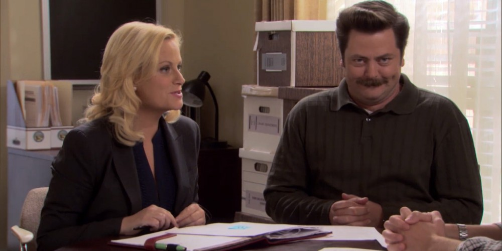 Ron Swanson Swanson's look of joy picture 2