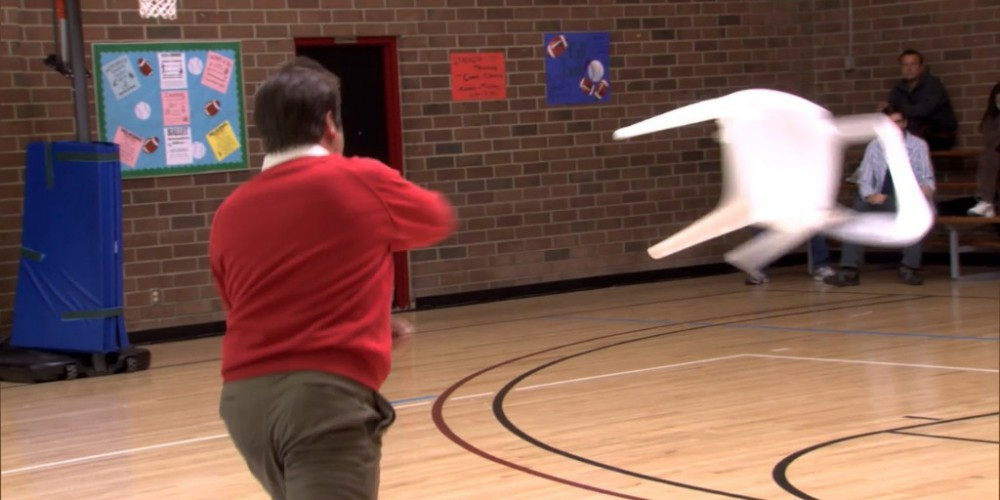 Throwing a chair like Bobby Knight picture 2