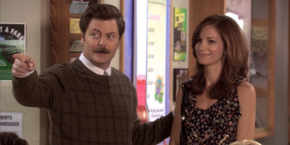 Ron Swanson has a pre-lunch date