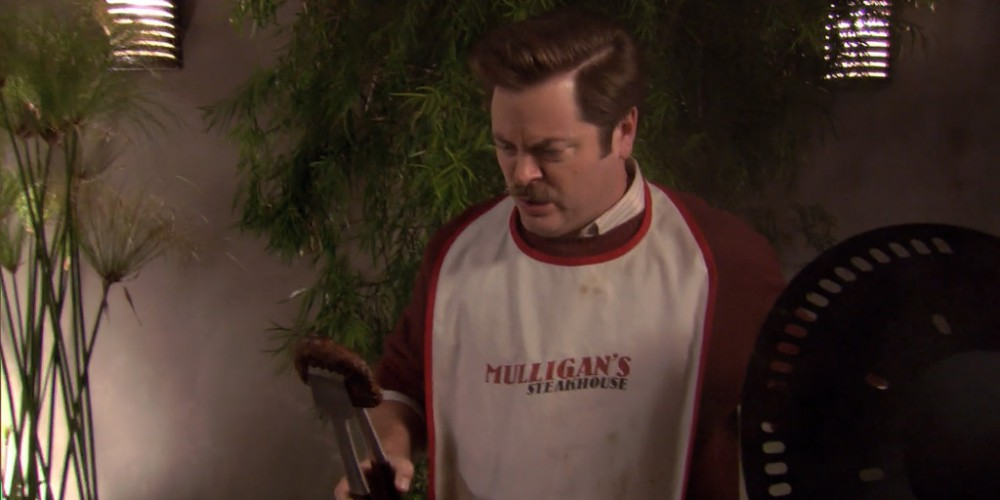 Ron Swanson is horrified by portabello mushrooms picture 1