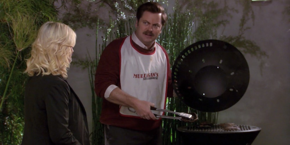 Ron Swanson is horrified by portabello mushrooms picture 3