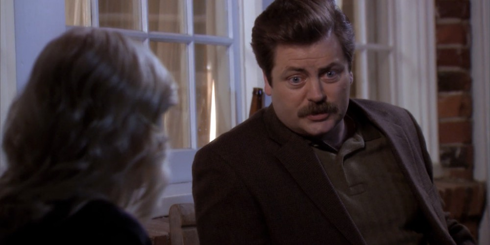 Ron Swanson has been married twice