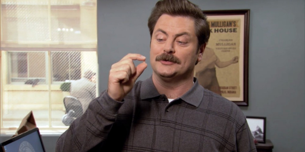 Ron Swanson can handle a tremendous amount of pain