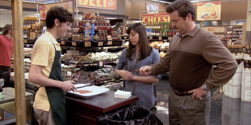 What happens when Ron Swanson samples vegan bacon picture 3