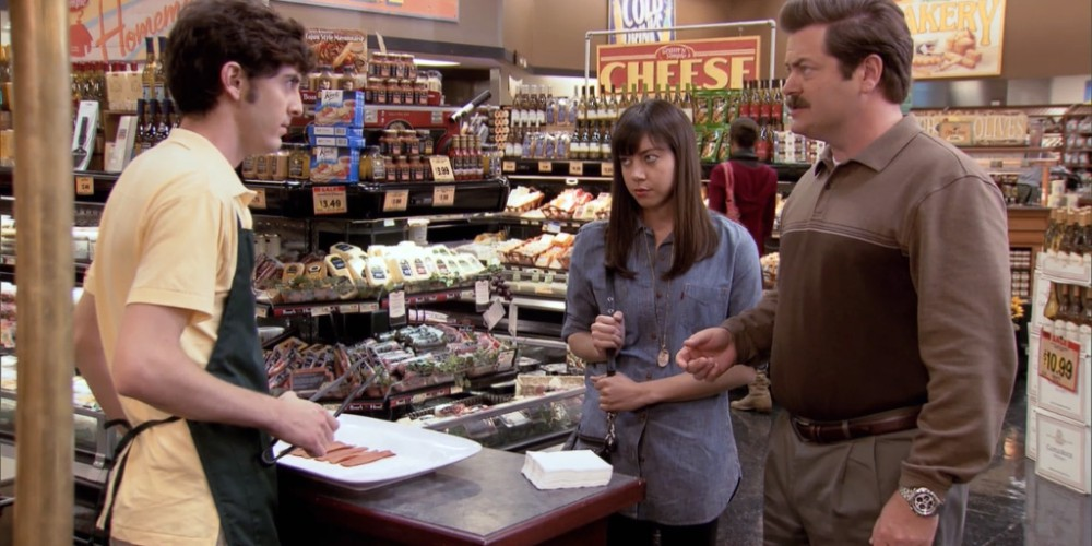 What happens when Ron Swanson samples vegan bacon picture 4