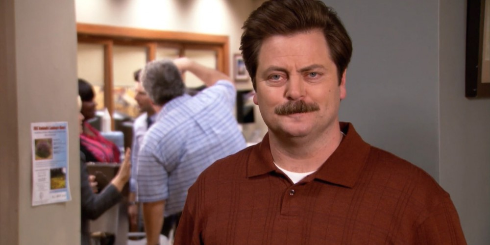 Ron Swanson does not like chummy
