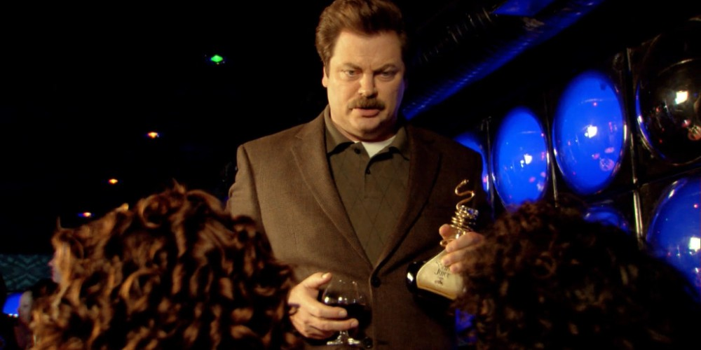 Ron Swanson Swanson's ringing endorsement of Snake Juice