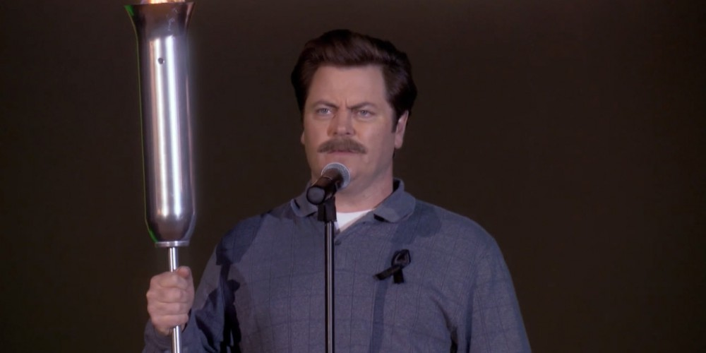 Ron Swanson has only cried twice