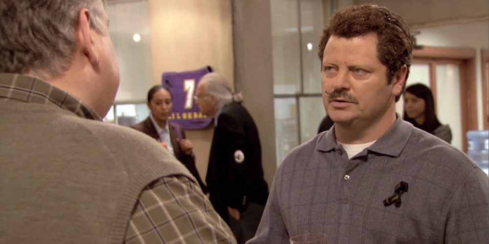 How Ron Swanson lost his eyebrows picture 10