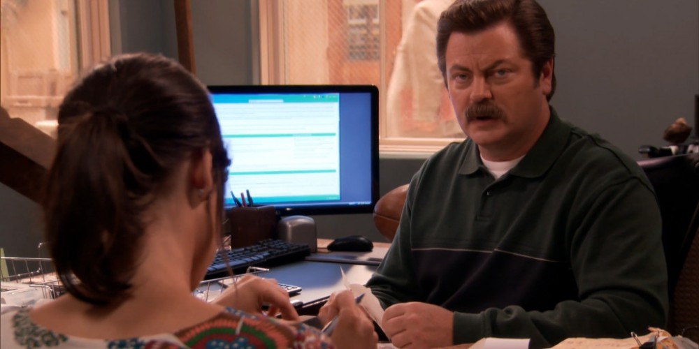 Ron Swanson has buried gold throughout Pawnee