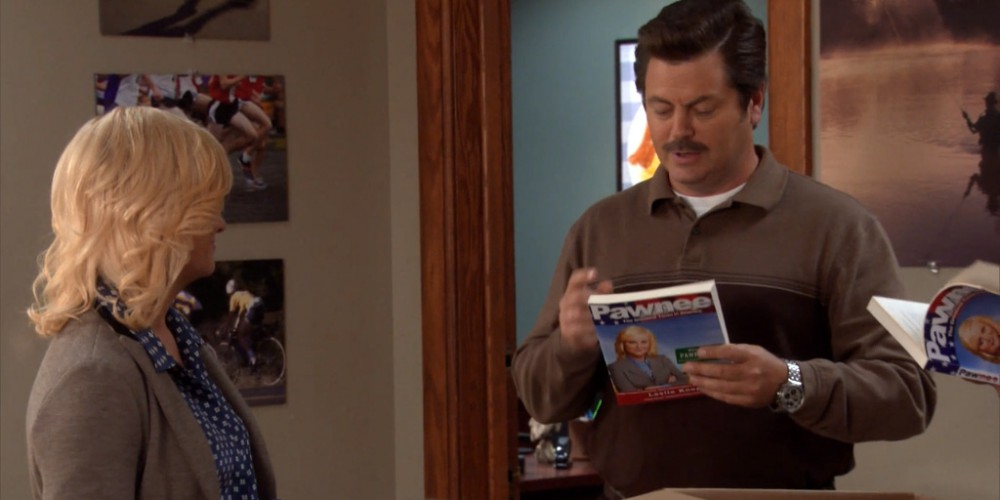 Ron Swanson only reads nautical novels