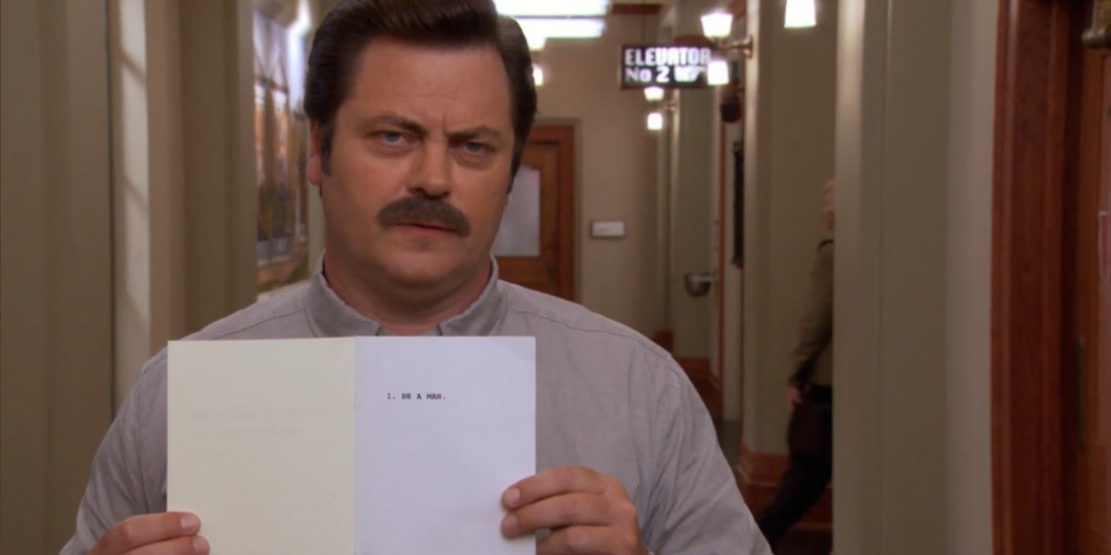 Ron Swanson wrote the Pawnee Ranger Handbook picture 4