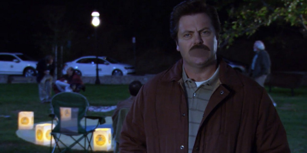 Ron Swanson Swanson's religion is none of your damn business