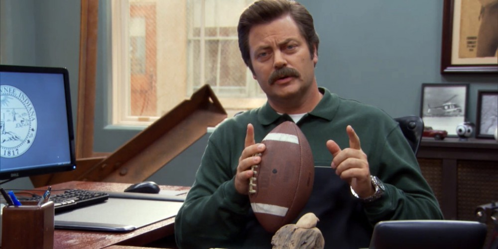 Ron Swanson offers to help pay for Andy's college course