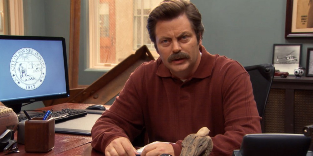 Ron Swanson does not root against Andy