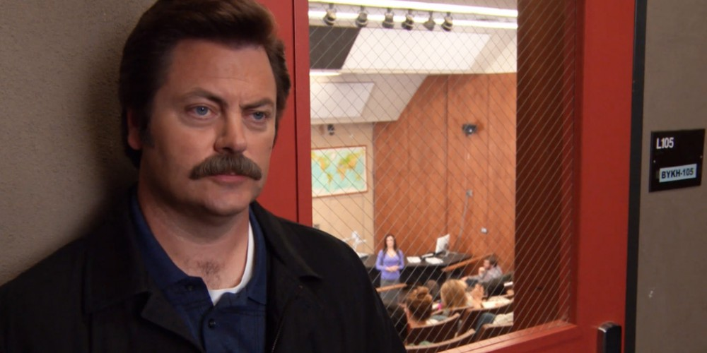 Ron Swanson reflects back on his time at the steel mill