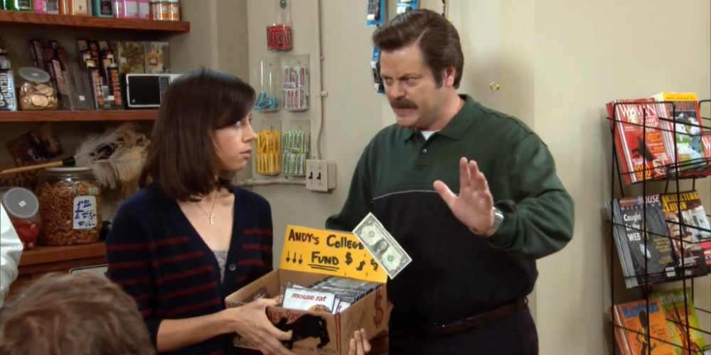 Don't let phone calls make it to Ron Swanson Swanson's desk unimpeded
