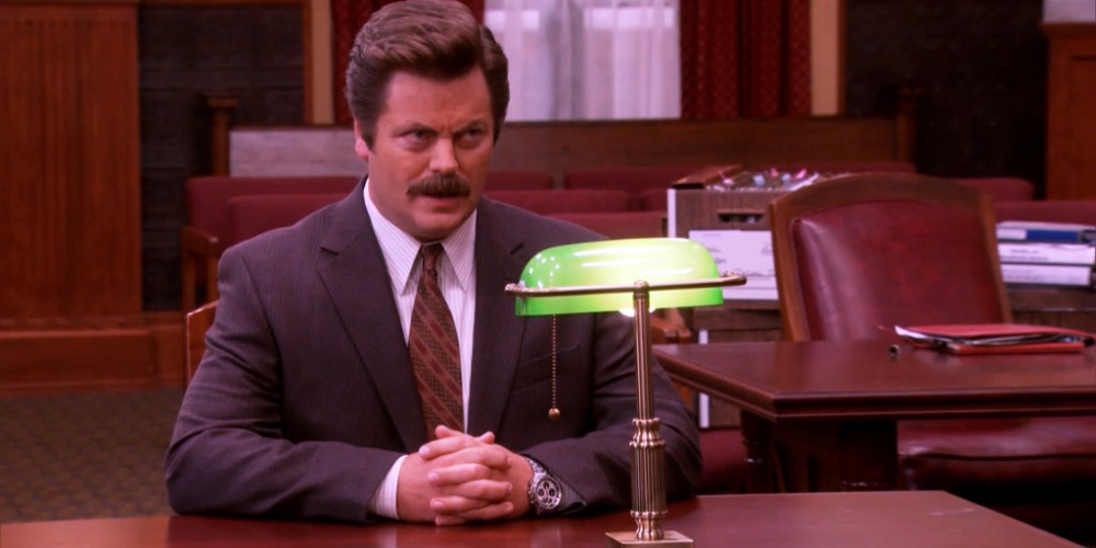 Ron Swanson does not want his address to be on record