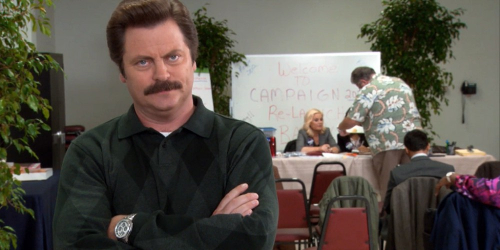 Ron Swanson does not think highly of contractors